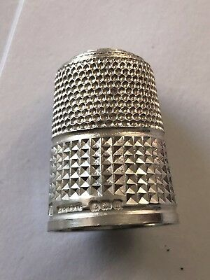 Sterling Silver Thimble - HG & S - Birmingham -1911