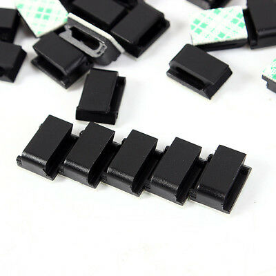 30PCS/Set Data Tie Cable Mount Wire Fixed Clip Holder Self-adhesive Clamp Tool