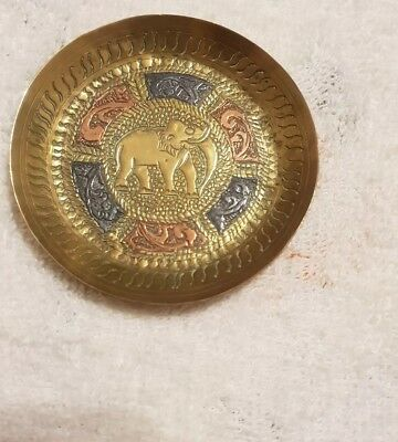 Small Brass Elephant Dish