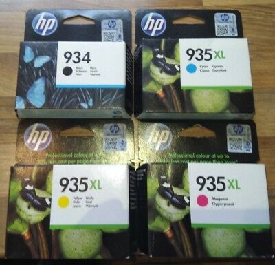 HP Druckerpatronen original Set 934 schwarz, 935 yellow , 935 Cyan ,935 magenta