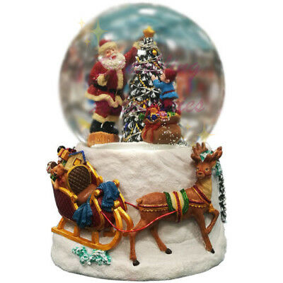 NEW Christmas Musical Water Snow Globe Santa Claus with Decorative LED Lights!