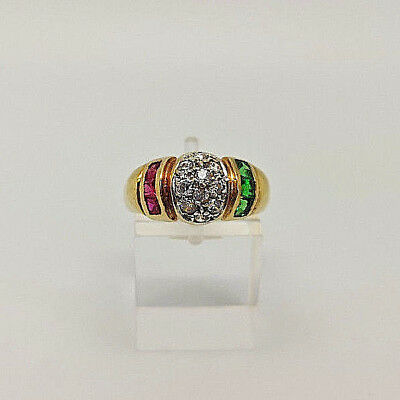 Gorgeous 18ct Gold Ladies Cubic Dress Ring.  Goldmine Jewellers.