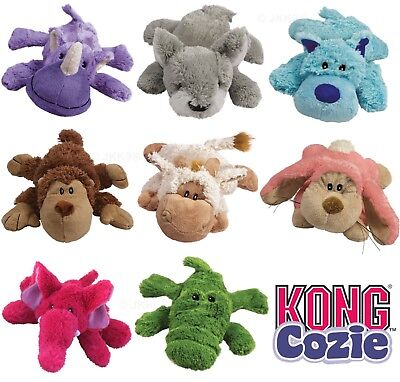 Kong Cozies Dog Puppy Cozie Toys Soft Plush Squeaky Dogs Toy
