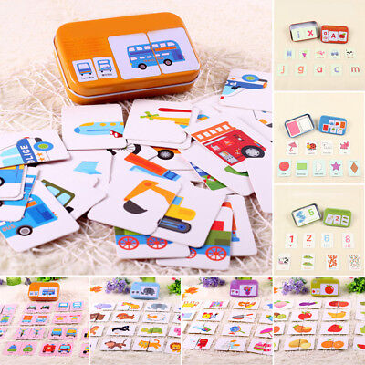 Kids Toddler Learning Cognition Card Matching Game Educational Preschool Toys