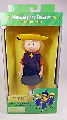 """1998 Eden Madeline and Friends Nicole 8"""" Poseable Doll New in Box"""