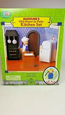 Madeline's Old House in Paris Kitchen Set Stove Sink & Refrigerator New in Box