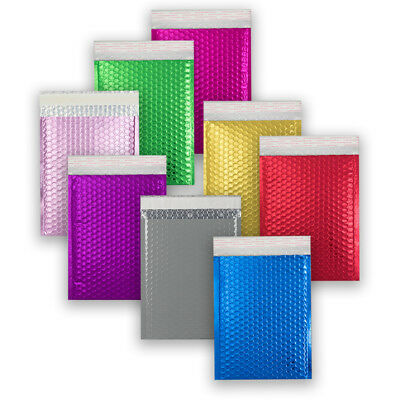 Good Quality Metallic Matt Bubble Coloured Envelopes Bags Fast & Free Postage