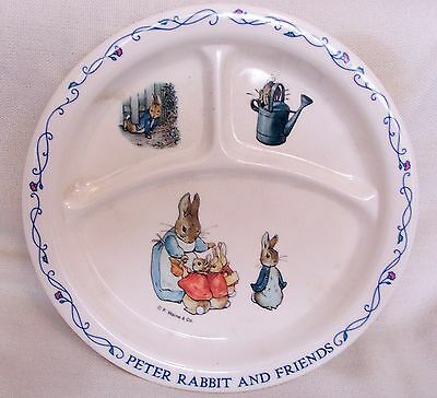 F. Warne & Co., Children's Divided Dish .. Peter Rabbit ..
