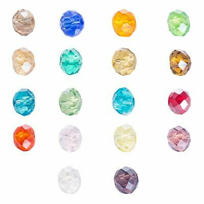 Multi Color Faceted Rondelle / Abacus Crystal Glass Beads Strand 6x4mm 100pcs