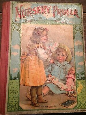 Antique Nursery Primer Children's Book Early 1900's Very CooL LooK WoW  !!!