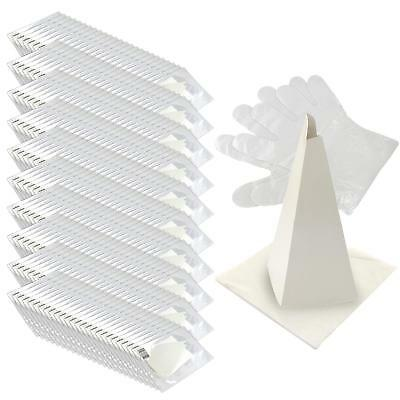 250x Top Quality Disposable Funnel Paper Set Oil Change Vehicle Gloves
