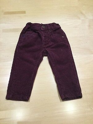 Baby Boys Burgandy Red Cord Jeans By Next Brand Age 3-6 Months Weight 8 Kgs