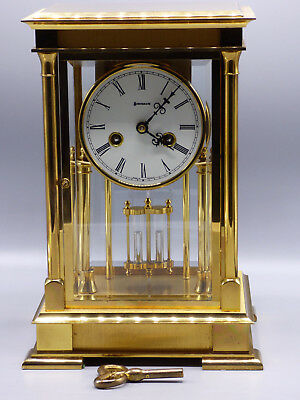 "Limited Edition Benchmark ""The Regency"" Mantel Clock Solid Brass Case w/ Chime"