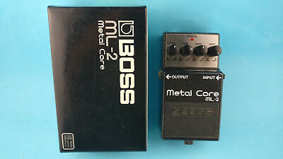 BOSS ML-2 Metal Core electric guitar  bass pedal mildly used in Box Roland
