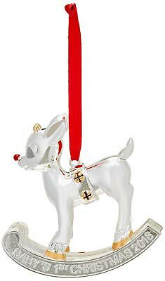 Lenox 2018 Baby's 1st Christmas Rudolph Ornament New Gift For Xmas Fast Shipping