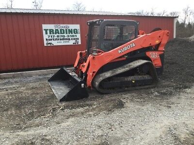 2015 Kubota SVL90-2 Compact Track Skid Steer Loader w/ Cab 2 Speed High Flow!