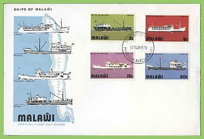Malawi 1975 Ships of Lake Malawi (1st series) set on First Day Cover
