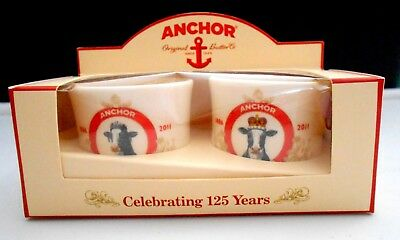 BRAND NEW Anchor Commemorative 125th Anniversary Special Edition Pair Egg Cups 2