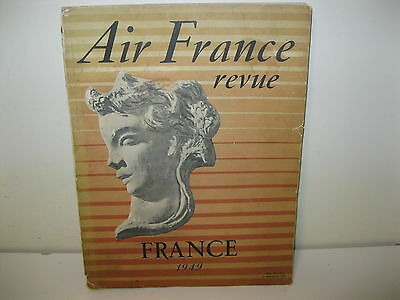 Vintage Air France Inflight Magazine From 1949