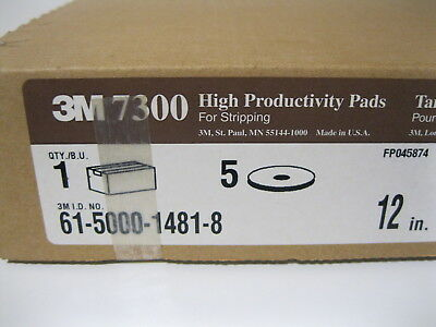 "3M High Productivity Pad 7300, 12"" Pads, Case of 5 ** Free Shipping **"