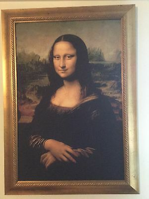 VERY LARGE Mona Lisa Museum Quality Framed Print