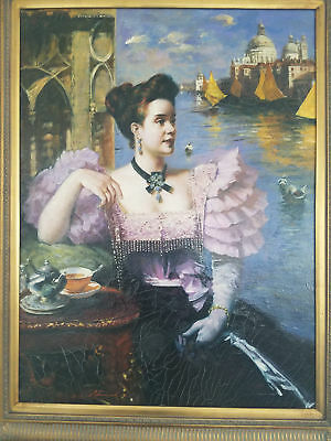 BEAUTIFUL LARGE 19th, 20th Century Portrait Painting of a Woman