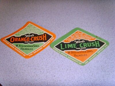 Ward's Orange Crush & Lime Crush  Labels Must See