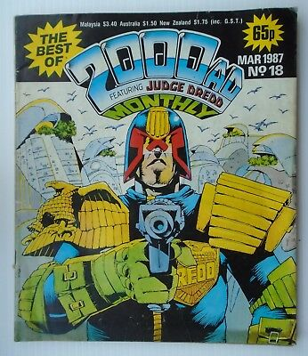 2000 AD MONTHLY ,,The best of,, FEATURING JUDGE DREDD 1987 ,D.R & QUINCN