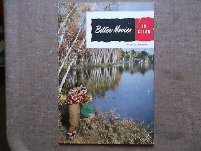 """Collectible Vintage How-To Manual - Kodak Booklet """"better Movies In Color""""- 1953"""