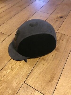 Harry hall black and grey riding hat size 56 (6 7/8) excellent condition