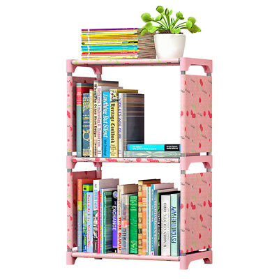 3 Shelf Bookcase Book Shelves Bookshelf Storage Bin Books Display Shelving H4G4