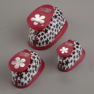 Set Of 3 Flower Punches Lever Style Paper Crafts Card Making 1.4cm /24cm / 35cm