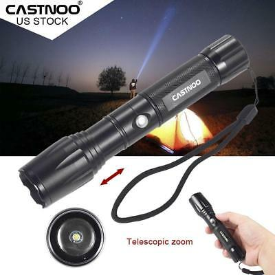 10000 lm Zoom  T6 LED Flashlight Military Torch 5 Modes 18650 Lamp Light LJ