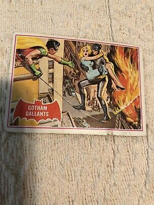 vintage batman topps 1966 trading card #15A Gotham gallants red series dc comics
