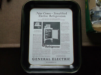 Collectible Vintage Advertising Tray - General Electric Refrigerators 50Th Anniv