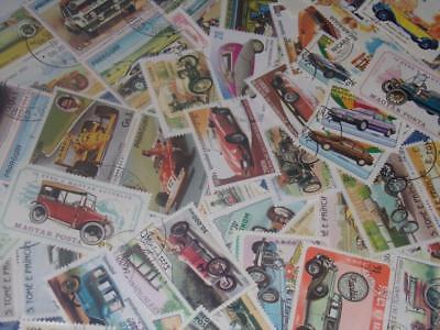 Large Collection  Of Car Stamps All Different Types Worldwide!