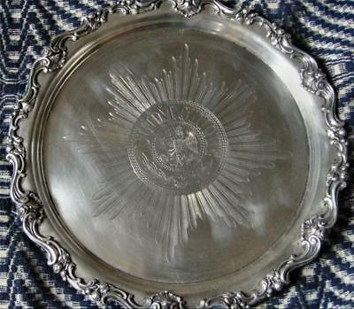 Antique Highly Important Prussian Military Order of Black Eagle Silver Tray(800)
