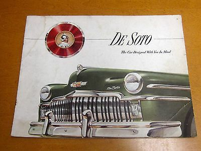 1949 DE SOTO Full Line,  12 pg ORIGINAL Factory Brochure