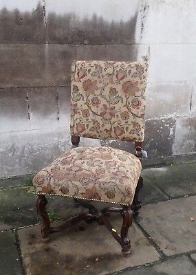 Beautifully Carved Victorian Upholstered Chair