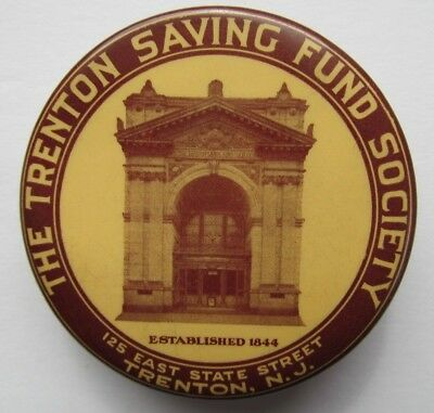 Vintage Celluloid Promotional Dime Bank -Trenton Saving Fund Society New Jersey