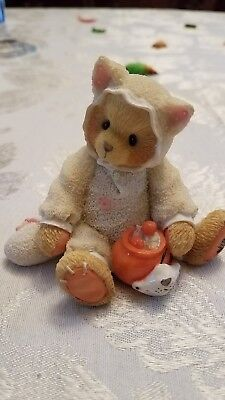 """Cherished teddies halloween buy now Tabitha # 176257 """"you're the cat's meow"""""""