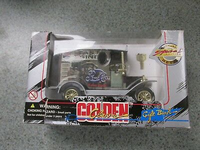 Golden Classic Die Cast Metal Special Edition Pepsi Cola Truck Gift Bank & Key