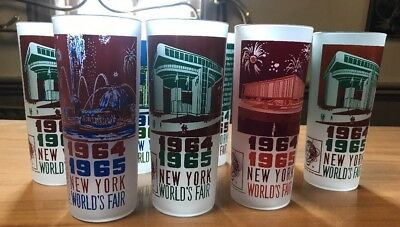 8 New York World's Fair Tumblers 1964-1965  Glass