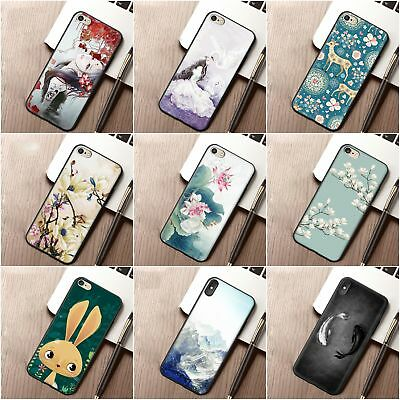 iPhone Case For iPhone Gift Back Flower Cover Print Cute Plant Soft TPU Simple