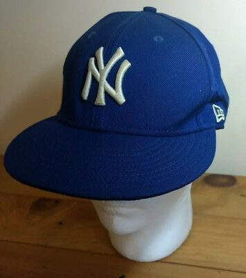 acdbf2ed4bd Vintage New Era 59 Fifty NY Yankees Men s Baseball Cap Hat Wool Size 7 ...