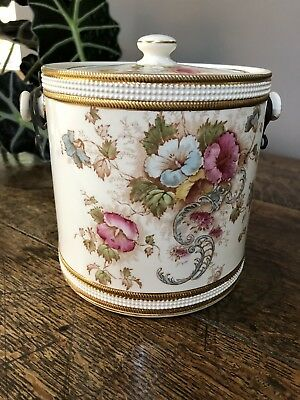 S F & Co Crown Devon Elm Pattern Biscuit Barrel