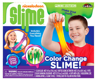 Make Your Own NICKELODEON SLIME Kit Color Change Includes Everything Arts Crafts