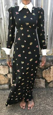 Amazing Ladies XXS-XS VINTAGE 60s/70s Long Sleeve with Collar Mod Floral Print M