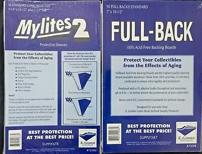 25 E. Gerber 725M2 Mylites 2 and 700FB Full Back Combos Current/Standard Comic