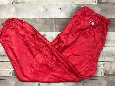 90s Vintage Red Russel Athletic L Nylon Track Pants